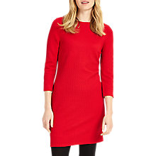 Buy Phase Eight Tilly Textured Tunic Dress, Red Online at johnlewis.com