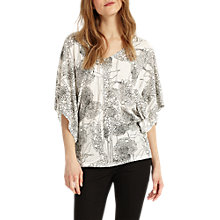 Buy Phase Eight Alium Print Top, Ivory/Black Online at johnlewis.com