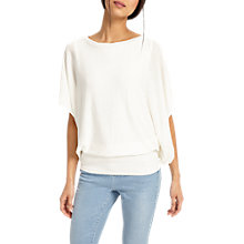 Buy Phase Eight Bionda Blouson Knit, White Online at johnlewis.com