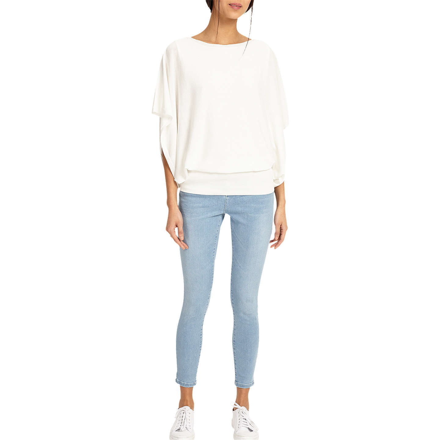 BuyPhase Eight Bionda Blouson Knit, White, XS Online at johnlewis.com
