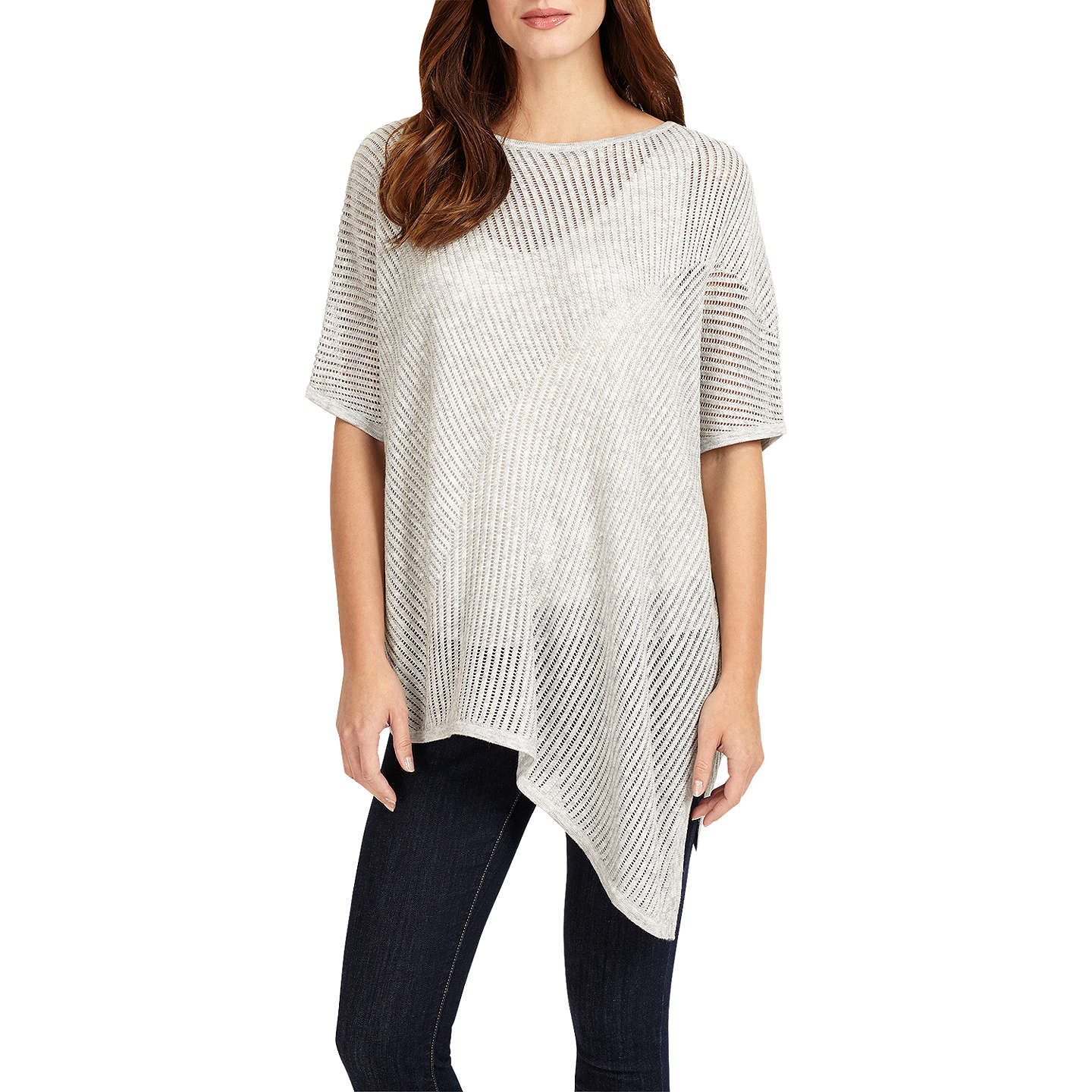 BuyPhase Eight Agnese Asymmetric Knit, Silver, S-M Online at johnlewis.com