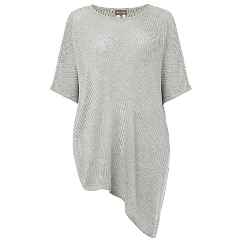 Buy Phase Eight Agnese Asymmetric Knit, Silver Online at johnlewis.com