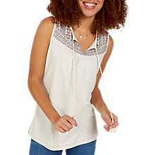 Buy Fat Face Saffron Embroidered Cami, Ivory Online at johnlewis.com
