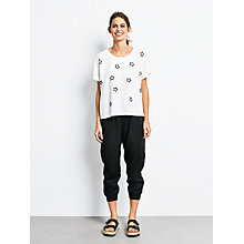 Buy hush Embroidered Star T-Shirt, White/Black Online at johnlewis.com