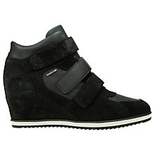 Buy Geox Illusion Hidden Wedge Trainers, Black Online at johnlewis.com