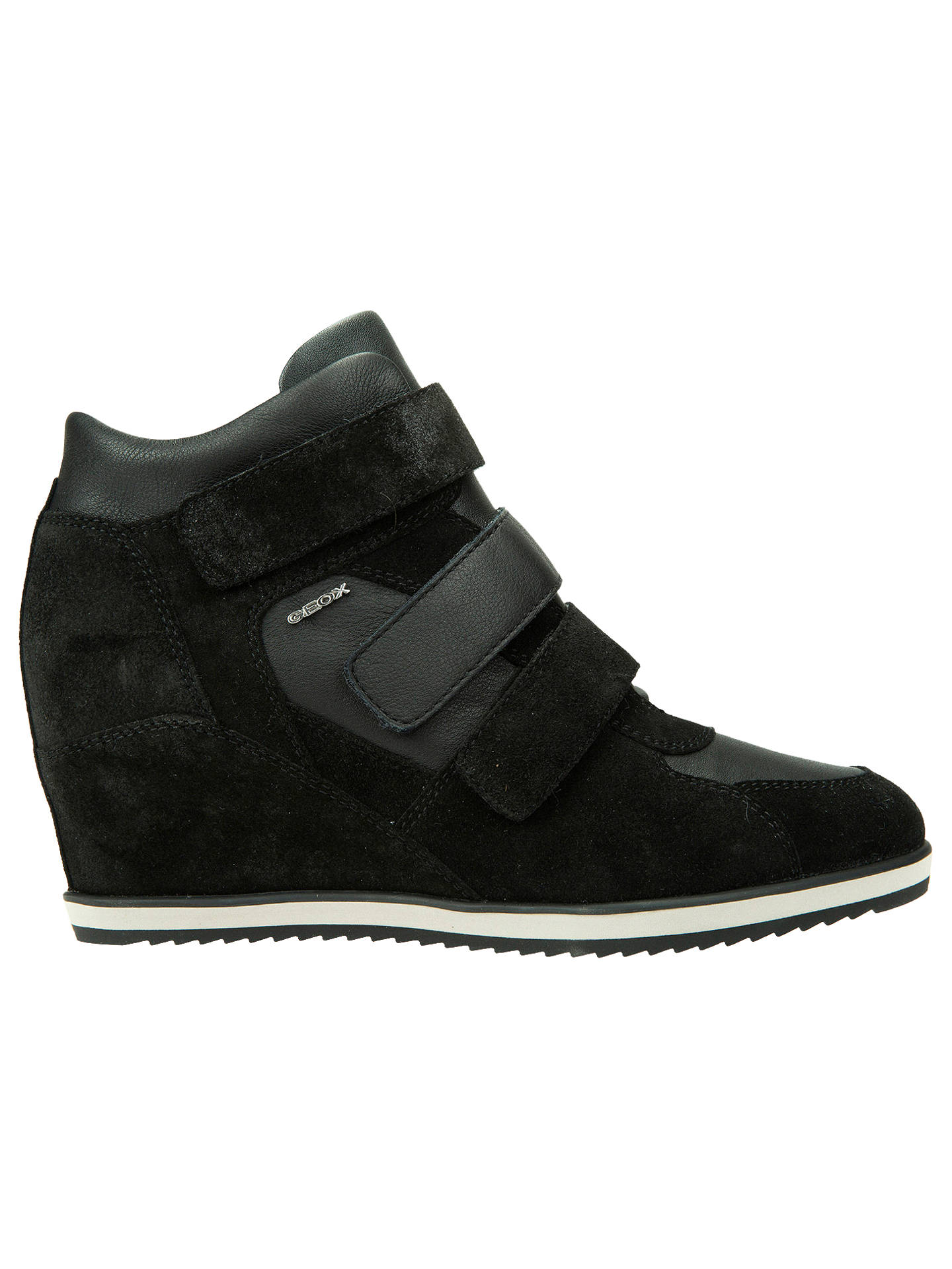 a20fe00123 Buy Geox Women's Illusion Hidden Wedge Trainers, Black, 3 Online at  johnlewis. ...