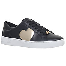 Buy MICHAEL Michael Kors Keaton Heart Lace Up Trainers, Black/Other Online at johnlewis.com