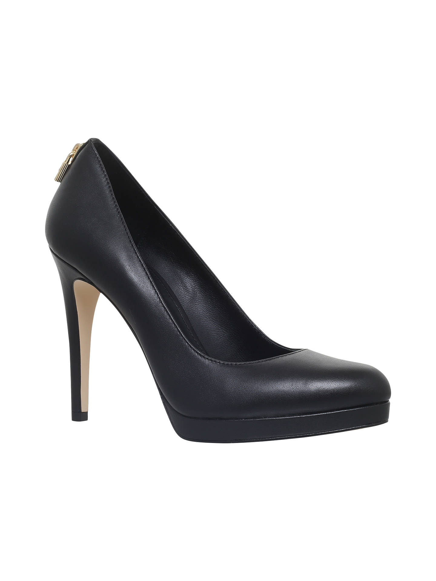 eec20d0ecb Buy MICHAEL Michael Kors Antoinette Stiletto Heeled Court Shoes, Black  Leather, 3 Online at ...