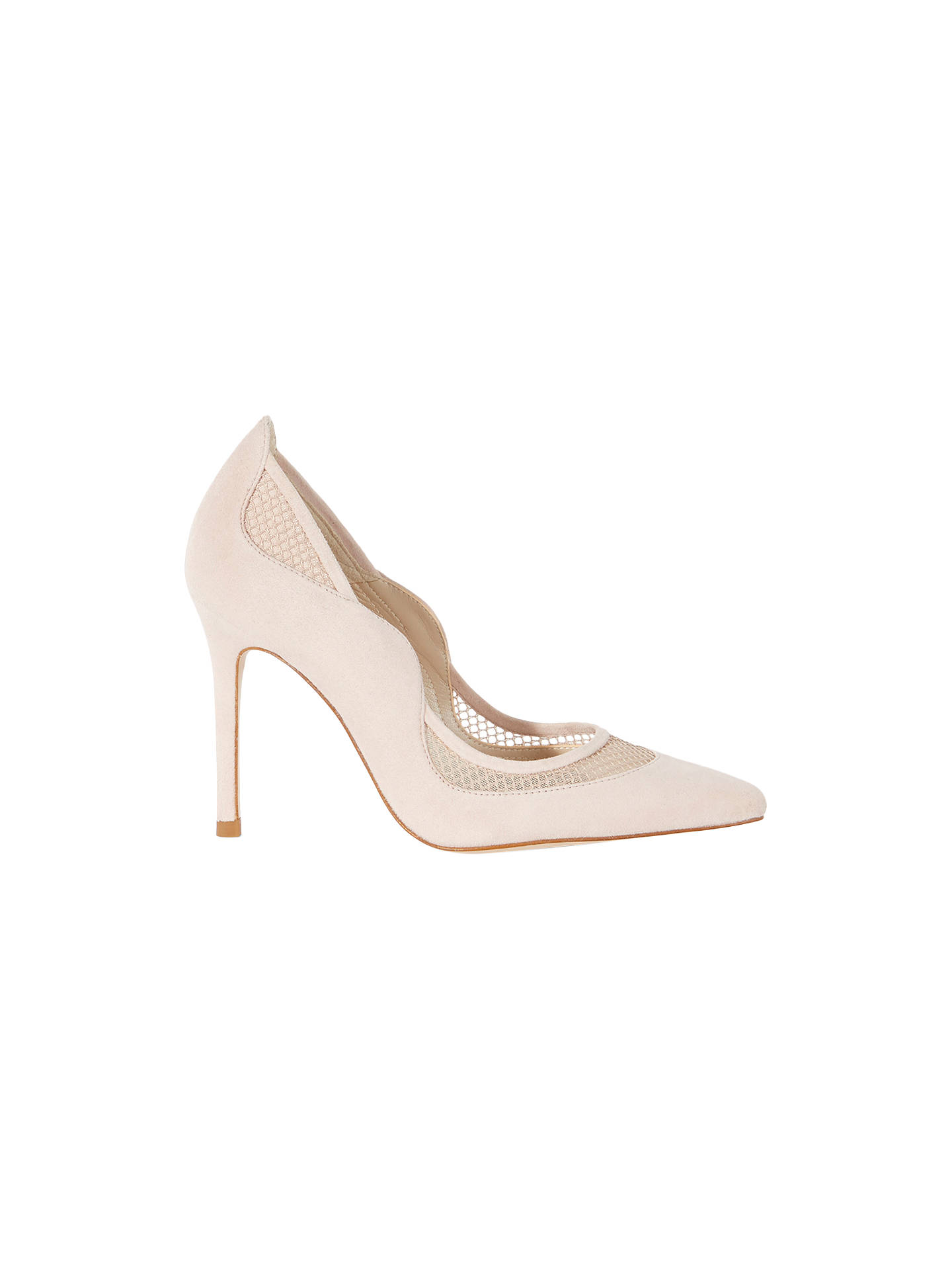 df8fc421a8 Buy Karen Millen Suede and Mesh Court Shoes, Nude, 4 Online at johnlewis.