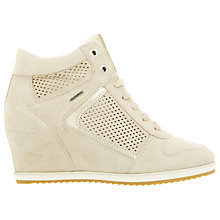 Buy Geox Illusion Hidden Wedge Trainers, Gold Online at johnlewis.com