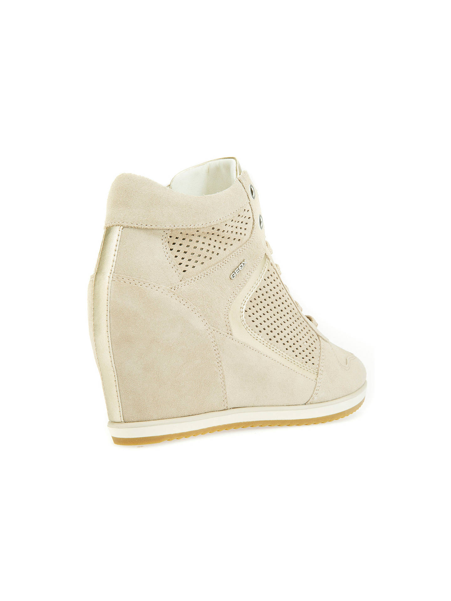 190f704cac ... Buy Geox Illusion Hidden Wedge Trainers, Taupe/Light Gold, 3 Online at  johnlewis ...