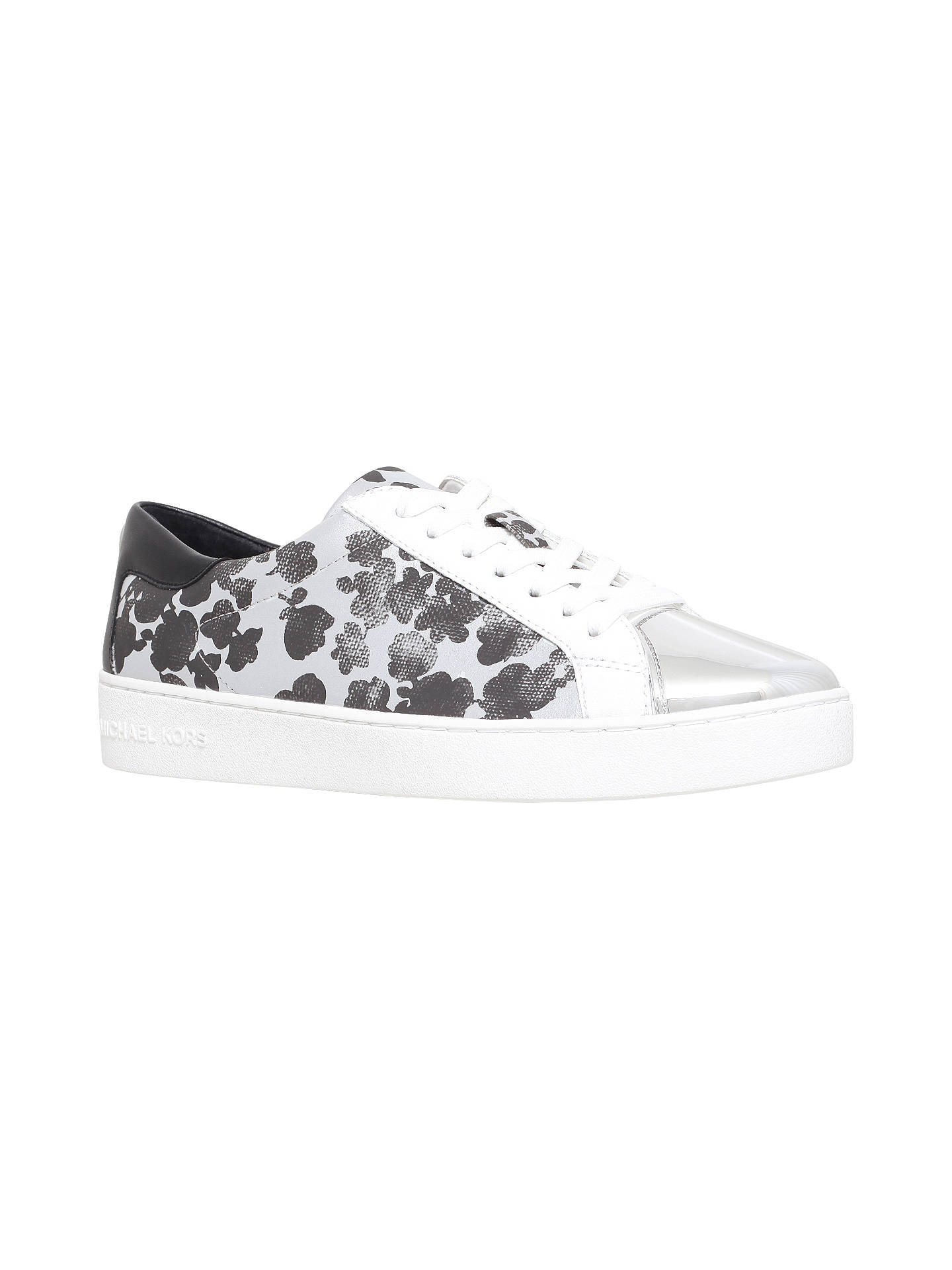 13234f7720ccb Buy MICHAEL Michael Kors Frankie Lace Up Trainers, Silver, 3 Online at  johnlewis.