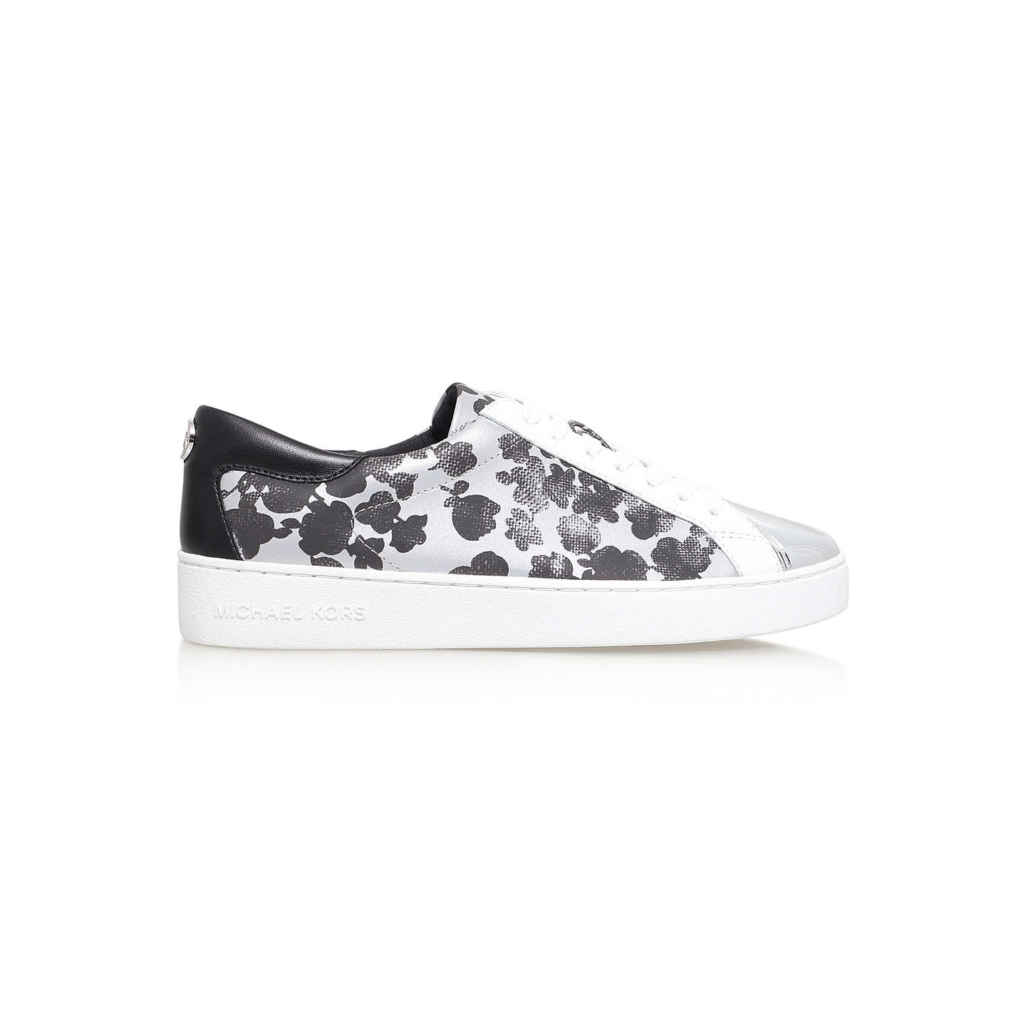 BuyMICHAEL Michael Kors Frankie Lace Up Trainers, Silver, 3 Online at johnlewis.com