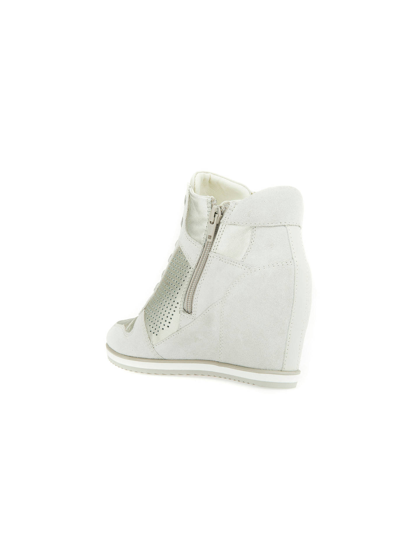 370d82cf36 ... Buy Geox Illusion Hidden Wedge Trainers, Off White, 3 Online at  johnlewis.com ...