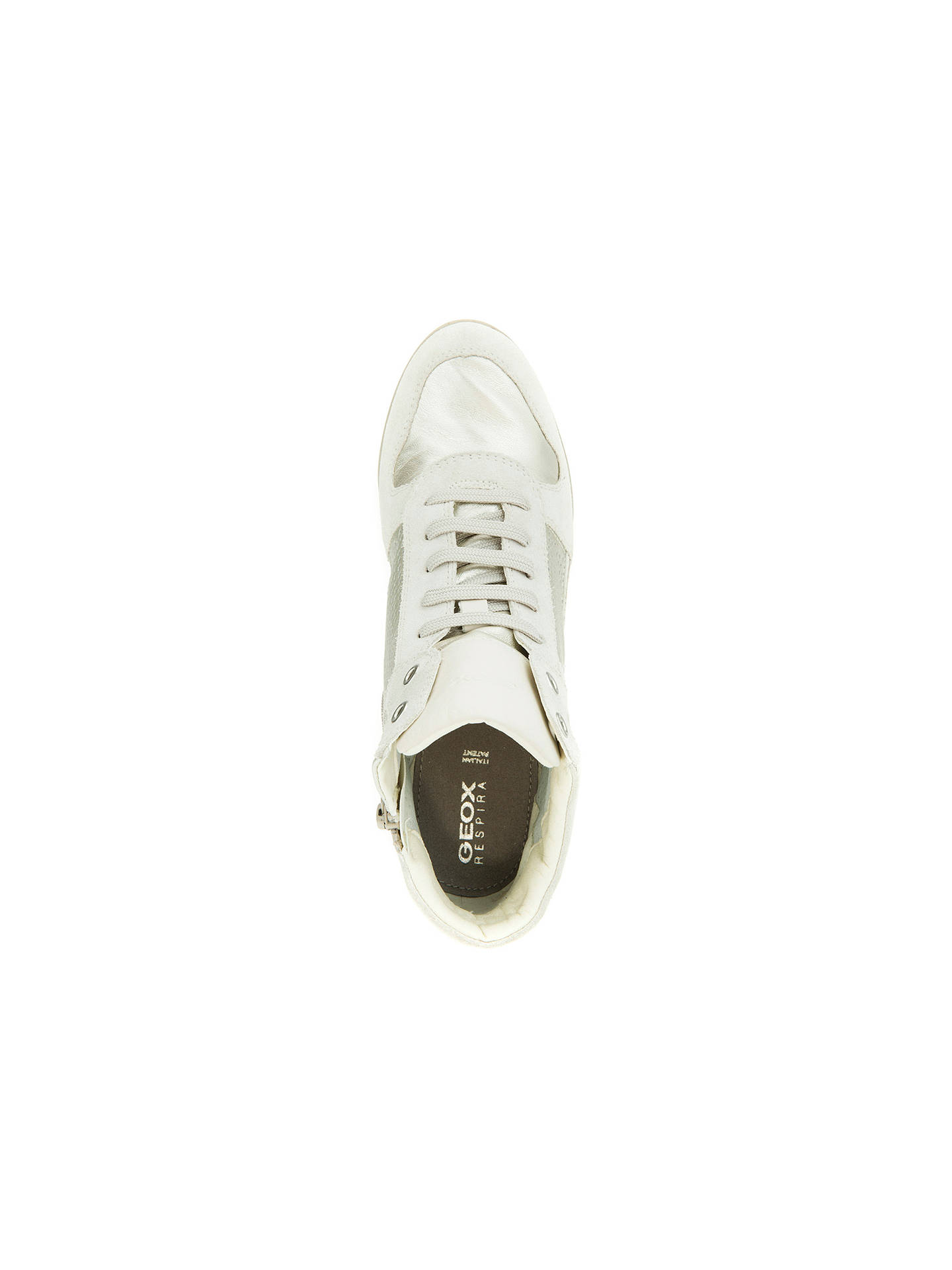 9b827c5c09 ... Buy Geox Illusion Hidden Wedge Trainers, Off White, 3 Online at  johnlewis.com
