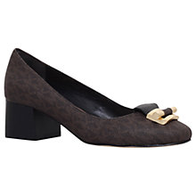 Buy MICHAEL Michael Kors Gloria Mid Pump Court Shoes, Dark Brown Online at johnlewis.com
