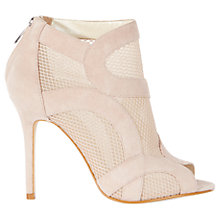 Buy Karen Millen Suede and Mesh Shoe Boots, Nude Online at johnlewis.com