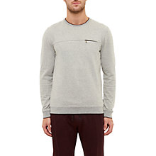Buy Ted Baker Malibo Textured Crew Neck Jumper, Grey Online at johnlewis.com