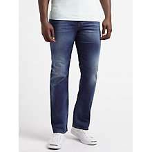 Buy Diesel Waykee Straight Jeans, True Blue 084GR Online at johnlewis.com