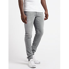 Buy Diesel Sleenker 0683M Stretch Skinny Jeans, Light Grey Online at johnlewis.com