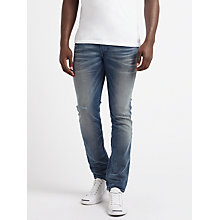 Buy Diesel Thommer Skinny Fit Stretch Jeans, Light Blue 084IK Online at johnlewis.com