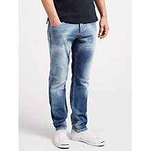 Buy Diesel Larkee-Beex Stretch Tapered Jeans, Light Wash 084QG Online at johnlewis.com