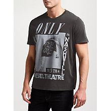 Buy Diesel T-Joe Only In Nashville QE T-Shirt, Black Online at johnlewis.com