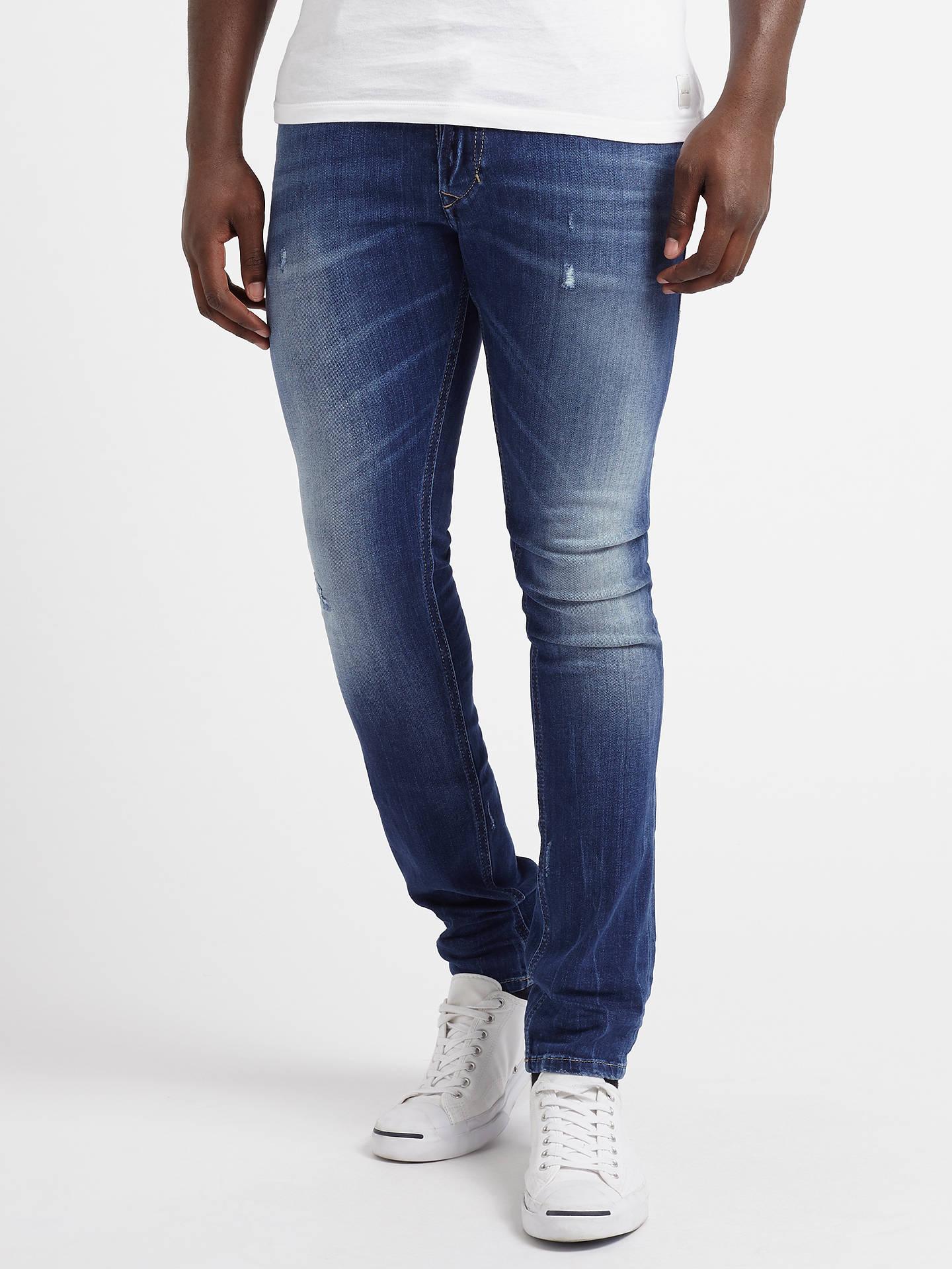 2019 rabatt verkauf heiß-verkaufender Beamter hohe Qualitätsgarantie Diesel Tepphar 084GG Slim Jeans, Mid Blue Distressed at John ...