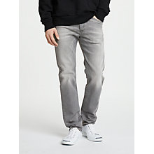Buy Diesel Buster Tapered Jeans, Light Grey 084HP Online at johnlewis.com