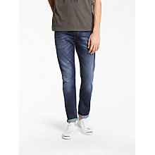 Buy Diesel Thommer Skinny Fit Stretch Jeans, Mid Blue Distressed 0860L Online at johnlewis.com