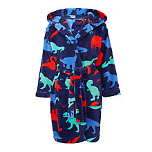 Buy John Lewis Children's Dinosaur Robe, Blue Online at johnlewis.com