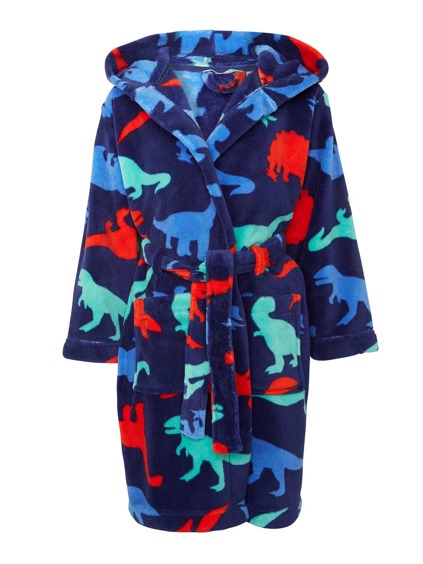 John Lewis Childrens Dinosaur Robe Blue At John Lewis Partners