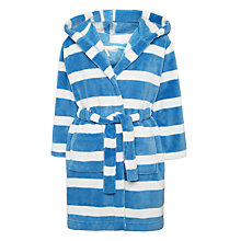 Buy John Lewis Children's Bar Stripe Robe, Blue Online at johnlewis.com