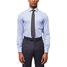 Buy Jaeger Houndstooth Slim Fit Shirt, Blue Online at johnlewis.com