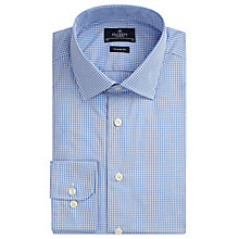 Buy Hackett London Micro Gingham Classic Fit Shirt, Light Blue Online at johnlewis.com