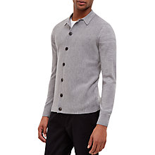 Buy Jaeger Milano Wool Knit Cardigan, Grey Online at johnlewis.com