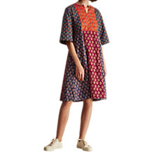 Buy Toast Block Print Cotton Dress, Multi Online at johnlewis.com