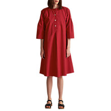 Buy Toast Cotton Poplin Smock Dress, Oriental Red Online at johnlewis.com