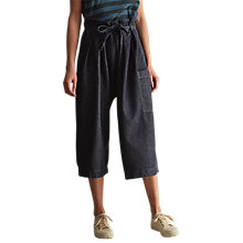 Buy Toast Gathered Waist Trousers, Indigo Online at johnlewis.com