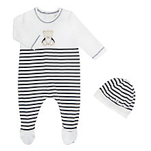 Buy Emile et Rose All-in-One Jersey Three Piece Set, Navy/White Online at johnlewis.com