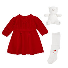 Buy Emile et Rose Knit Dress and Tights, Red Online at johnlewis.com
