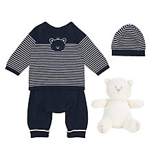 Buy Emile et Rose Baby Knit Jumper Two Piece Set, Navy/White Online at johnlewis.com