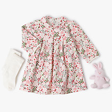 Buy Emile et Rose Baby 3 Piece Flower & Bird Dress Set, Pink Online at johnlewis.com