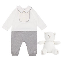 Buy Emile et Rose All-in-One Pleat Yoke Three Piece Set, Grey Online at johnlewis.com