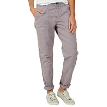 Buy Fat Face Seamed Worker Trousers, Dusty Lilac Online at johnlewis.com