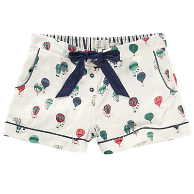 Fat Face Balloon Print Cotton Pyjama Shorts, Ivory