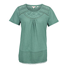 Buy Fat Face Olivia Broderie Top Online at johnlewis.com