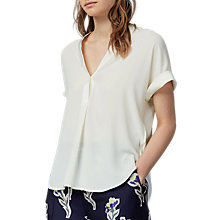 Buy Warehouse Satin Mix Blouse Online at johnlewis.com