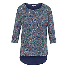 Buy Fat Face Faro Jewel Geo Print Top, Indigo Online at johnlewis.com
