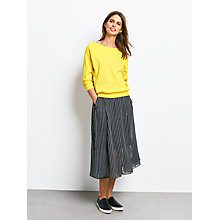 Buy hush Sofia Striped Skirt, Black/White Online at johnlewis.com